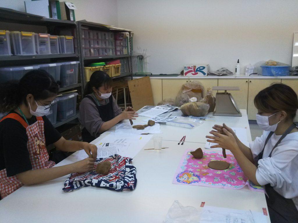 作業療法学科1年生の陶芸