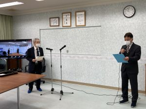 大浜方栄賞の授賞式